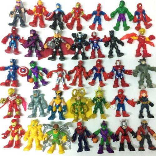 "PlaySkool Heroes IRON SPIDER-MAN 2.5/"" Marvel Super Hero Squad action figure toy"