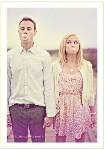 engagement pictures: Engagement Pictures, Photo Ideas, Engagement Photos, Cute Ideas, Cute Couples, Engagement Photography, Engagement Shot, Bubble Gum, Picture Ideas