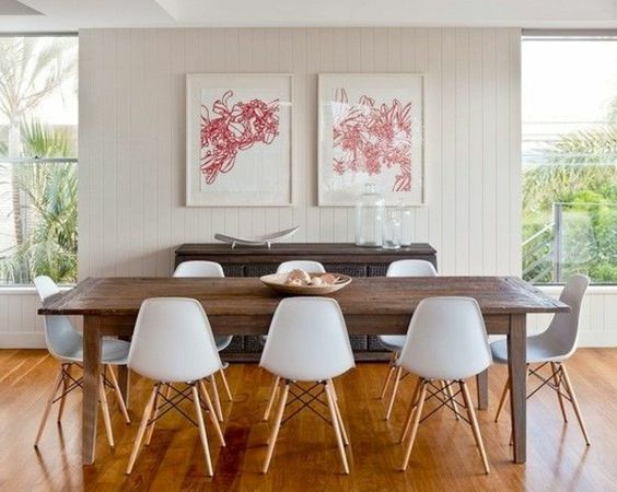 esszimmer gestaltung moderne ideen bilder an der wand | möbel,