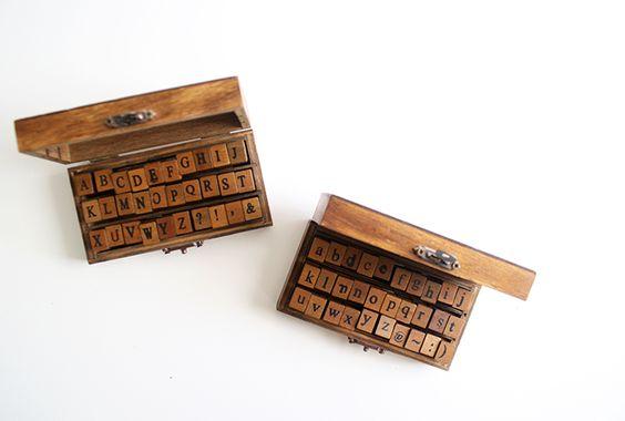 Alphabet rubber stamp kit | Oh, Hello Friend