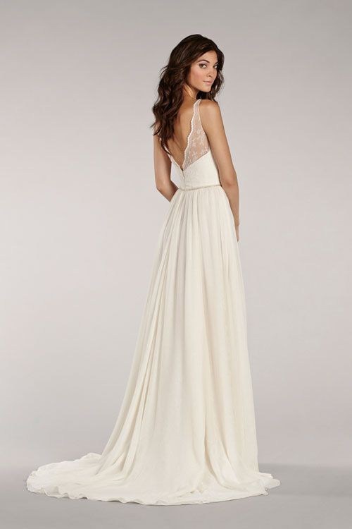 Kleid: Transparente Träger + fließender Stoff + Rückenausschnitt ...