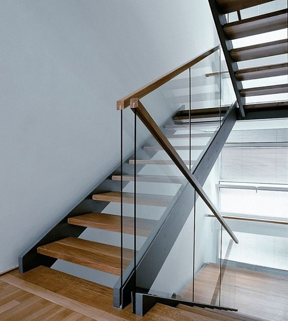 Image Detail For -... Glass Usage Modern Stair Railing