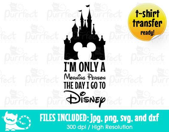 Disney Morning Person SVG, Disney T-shirt Design SVG, Disney Digital Cut Files in svg, dxf, png and jpg, Printable Clipart