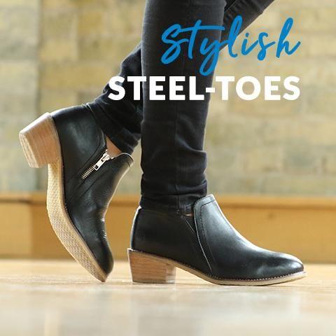 Steel toe boots women, Steel toe shoes