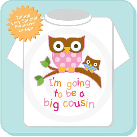 Big Cousin Shirt I'm going to Be a Big Cousin by ThingsVerySpecial