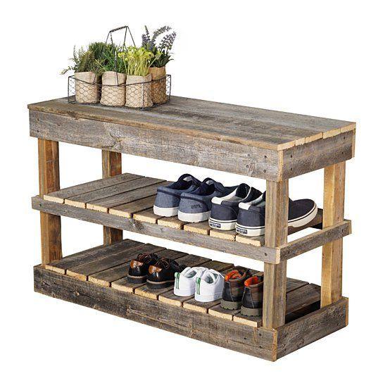 Buy Barnwood Shoe Rack By Del Hutsondesigns On Dot Bo Wood Shoe Rack Bench With Shoe Storage Diy Shoe Rack