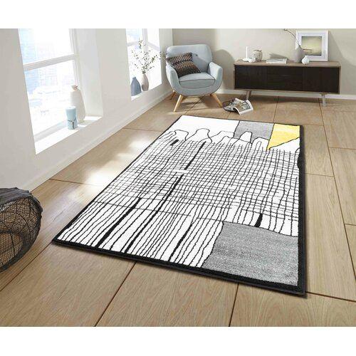 Monahan Braided Black White Yellow Rug Metro Lane Rug Size Rectangle 200 X 280cm Black White Rug Rugs White Rug