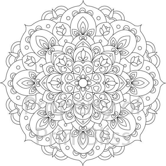 mandala coloring pages pinterest | Mandala printable, Flower mandala and Mandalas on Pinterest