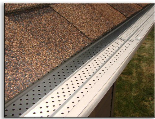 Tired Of Cleaning Gutters Leaf Shields And Gutter Guards Offer Less Maintenance Gutters Gutter Guard Gutter