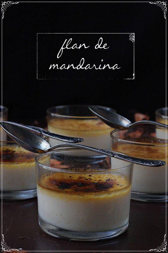 Flan de mandarina {by Paula, Con las Zarpas en la Masa}