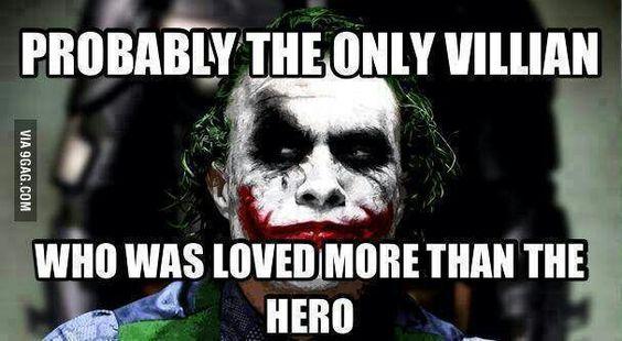 Strange things and oddities. Villain love. The joker. Heath ledger.