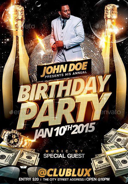 Doc500718 Birthday Invitation Flyer Template Top 20 Best – Birthday Flyer Templates Free