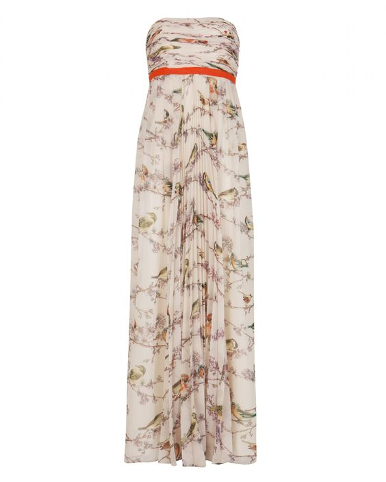 I wish I was going to a prom or another fancy shindig of sorts // florah printed maxi dress // ted baker