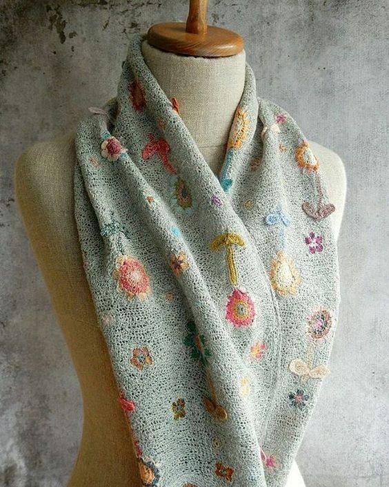 #sophiedigard #crochet #scarf #tığişi #eşarp #şal #sanat:
