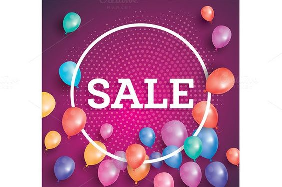 Sale poster on red background. Poster Templates. $5.00