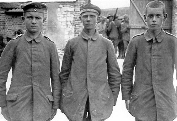 More German Prisoners-Of-War, captured by the French in the last phase of the war