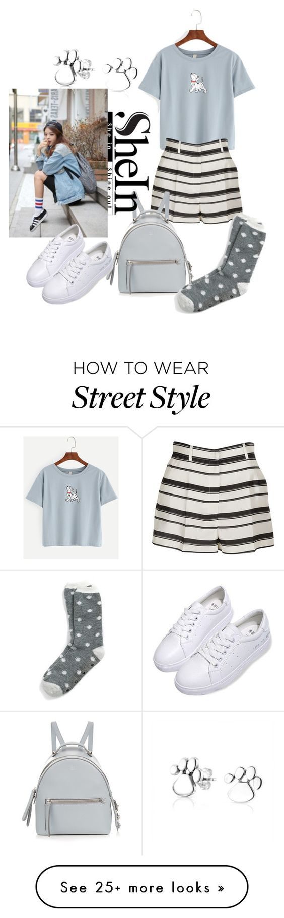 """Korean street style"" by silvyagny on Polyvore featuring Dolce&Gabbana, Fendi, Tommy Hilfiger and Bling Jewelry"