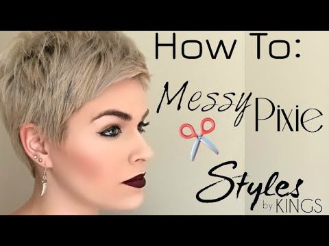 How To Style A Pixie Youtube Pixie Haircut Fine Hair Edgy Pixie Haircuts Short Hair Tutorial