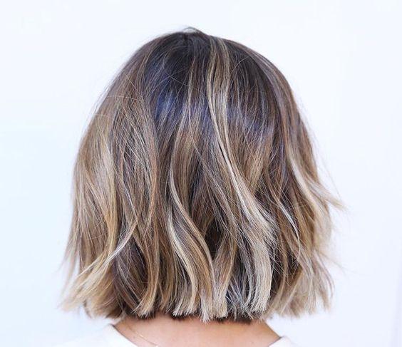 Brown blonde balayage! hair balayage brunette blonde shorthair