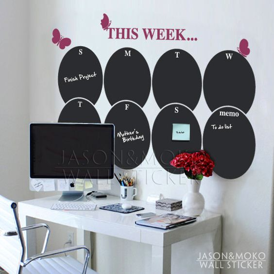 Vinyles d corations murales and calendrier on pinterest - Calendrier mural pas cher ...