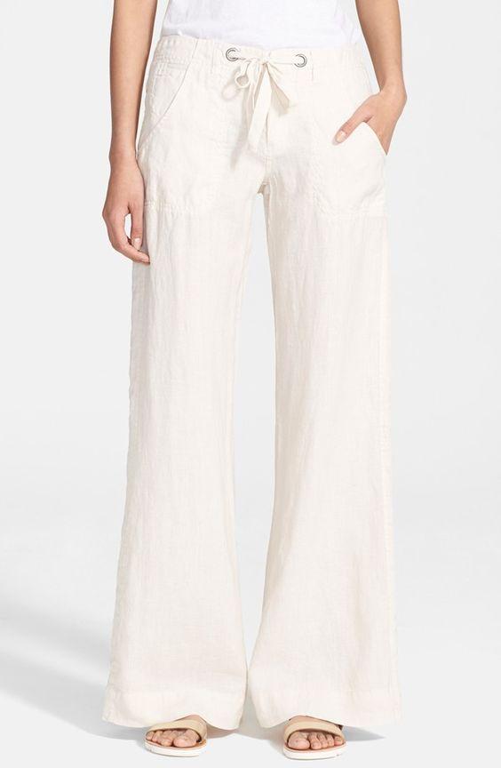 Linen pants, Wide leg linen pants and Pants on Pinterest