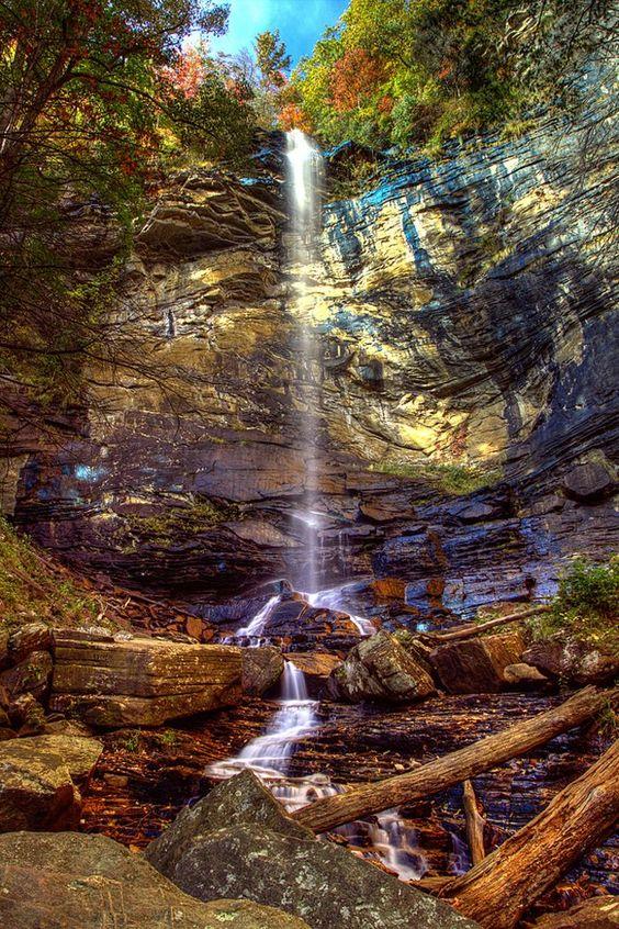 1. Rainbow Falls trail at Jones Gap State Park - Marietta, SC