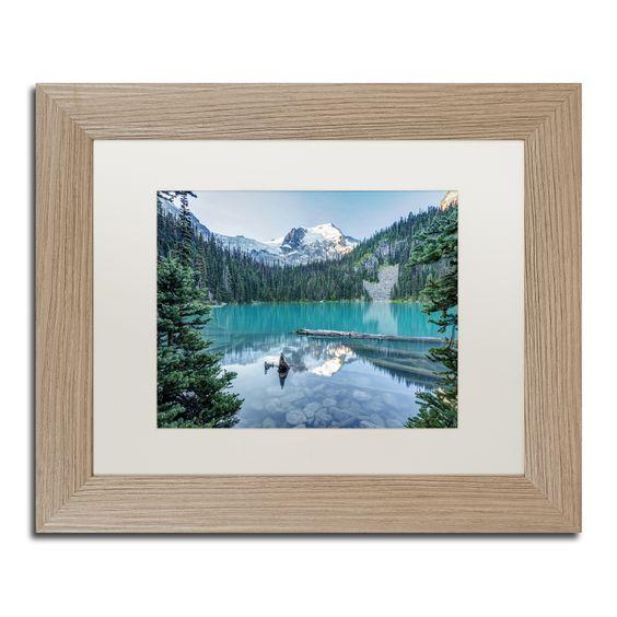 Pierre Leclerc 'Natural Beautiful British Columbia' Matted Framed Art