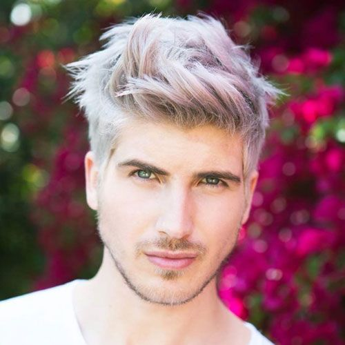 Bleached Hair For Men Blonde Platinum Dyed Hairstyles 2020