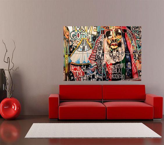 GRAFFITI STREET ART GEORGE CLINTON GIANT ART PRINT HOME DECOR POSTER OZ1827 #Various