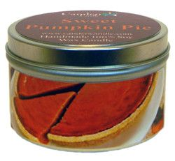 Sweet Pumpkin Pie, 6oz Soy Candle Tin