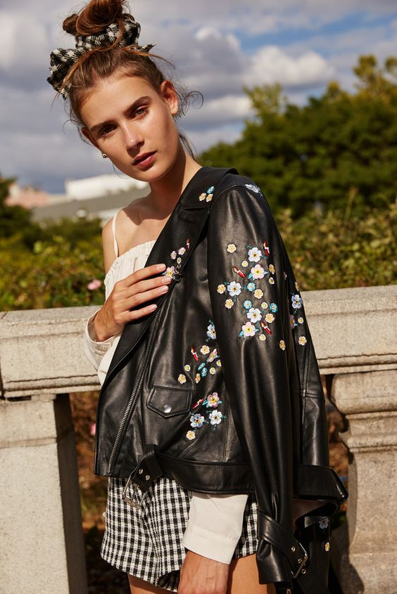Sandy Liang - Floral Delancy Jacket. Now available on www.House of Holthus.com