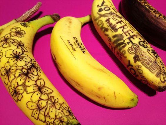 Banana Graffiti de Marta Grossi. Se come su arte para desayunar