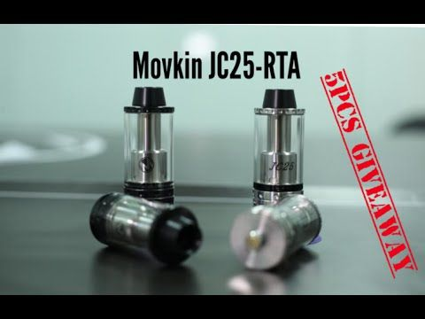 Movkin JC25-RTA Tank with Telescope top fill system + 5pcs Giveaway