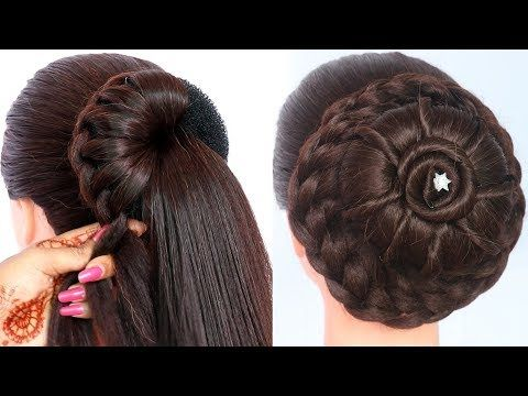 8 Easy Juda Hairstyles For Gown Lehenga Saree New Hairstyle For Girls Trending Hairstyle Hairstyles For Gowns Hair Designs For Girls Long Hair Styles
