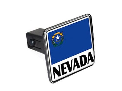 Nevada - Flag Tow Hitch Cover, black