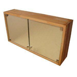 Praktischer Badezimmerschrank, Spiegelschrank, Hängeschrank aus Massivholz Buche, geölt