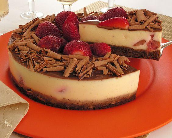 Torta de Morango com Chocolate: