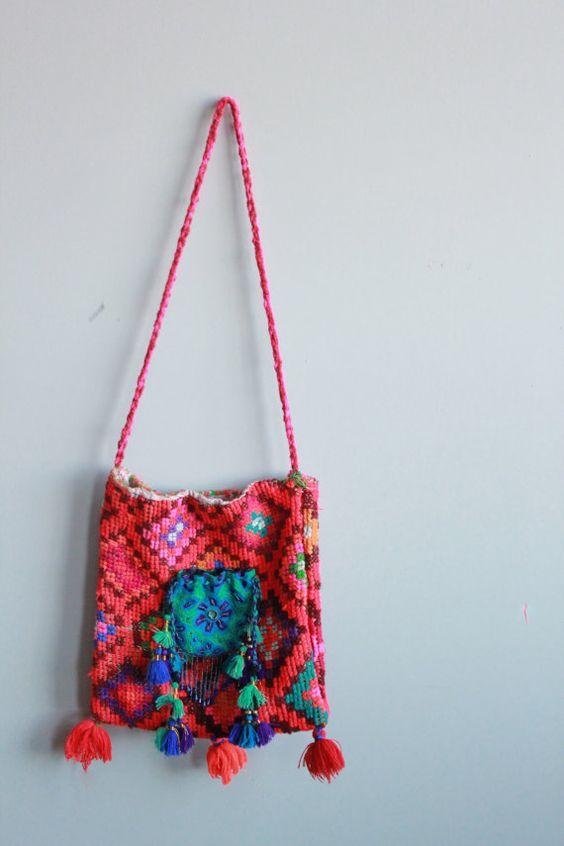 Ethnic Woven Tribal Native Bohemian Fringe Handbag by MountainGirlClothing