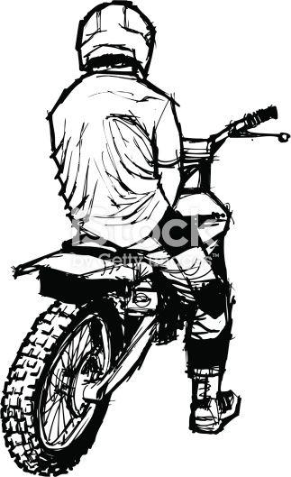 Back Of A Dirt Bike Racer Tatuagens Motocicleta Tattoo Bike E