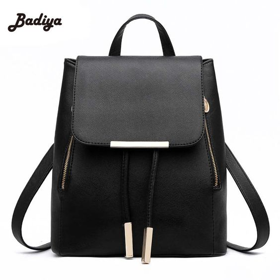 Multi-Color Pu Leather Women Backpack School Bags For Teenagers Girls  Backpacks