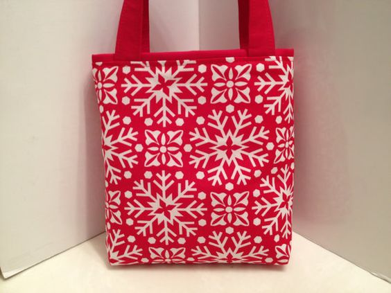 Snowflakes, Gift Tote Bag, Christmas, Gift Wrap, Wrapping Paper