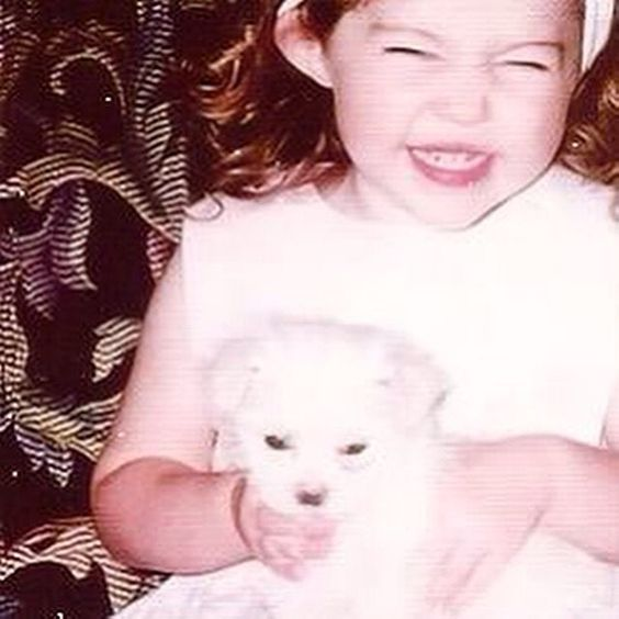 #FBF with little @mileycyrus what an adorable little angel just too cute!! 💗💗💗