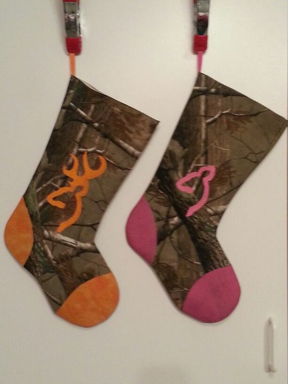 His and Her Camo Christmas Stockings | Stockings | Pinterest ...