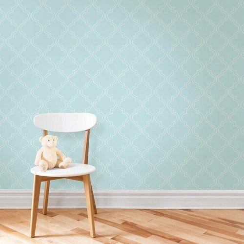 Blue Quatrefoil Peel And Stick Wallpaper Brewster Nuwallpaper Tellis 49 99 Wallpaper Home Peel And Stick Wallpaper Sophisticated Decor Nuwallpaper