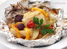 PANELATERAPIA - Blog de Culinária, Gastronomia e Receitas: Papelote de Bacalhau com Legumes