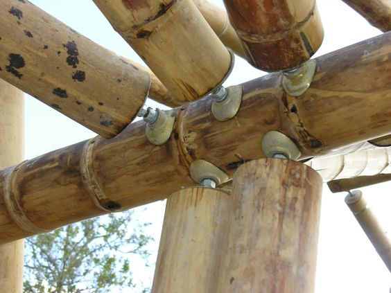 bamboo construction detail: