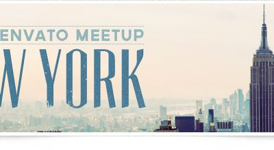 """Image and Text are superbly incorporated into one image. """"Envato Meetup New York"""" by Envato Design Team!"""