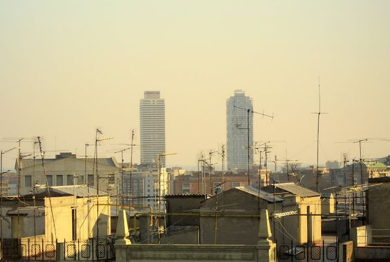 Barcelona, towers  and antenas