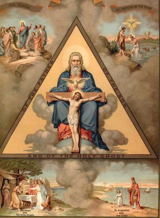 Santisima Trinidad, hagase su voluntad, hacia en la tierra ocmo en el cielo.