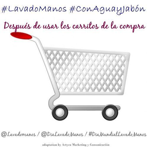 #LavadoManos después de manipular los carros de la compra que toca toda la gente.
